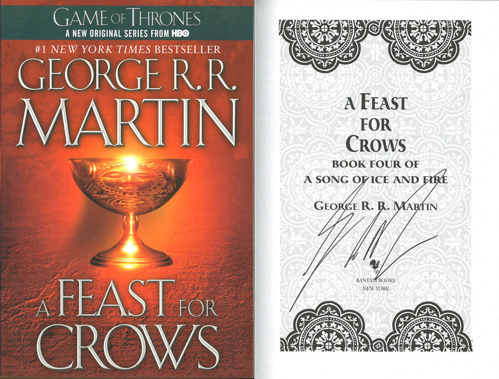 Details about George R R  Martin SIGNED AUTOGRAPHED A Feast For Crows SC  1st Ed NEW Ice Fire